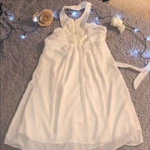 Ladies white halter dress # A22
